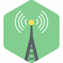 communication, connection, internet, network, tower icon
