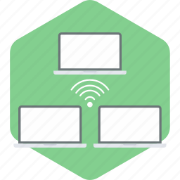 computer, connection, internet, monitor, network, screen, wifi icon