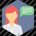 conversation, chat, comment, communication, message, talk