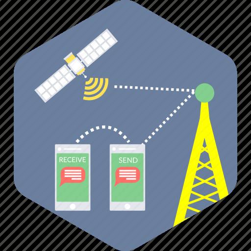 communication, network, satellite, tower icon