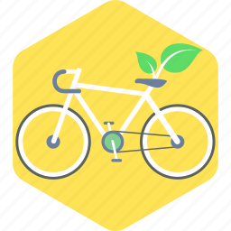 bicycle, cycling, eco icon