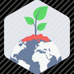 bio, earth, planet icon