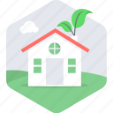 eco, house, hut, villa icon