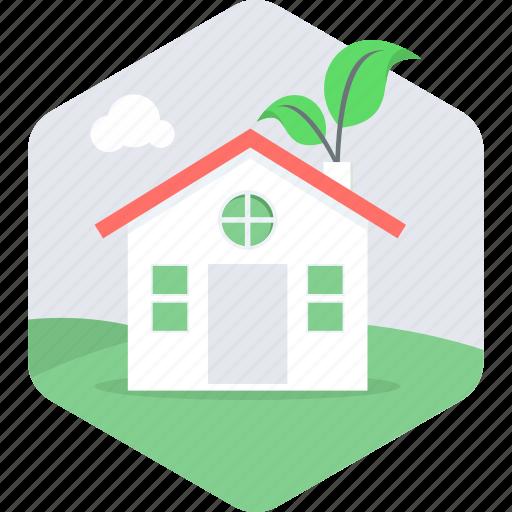 eco, house, hut, villa icon