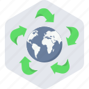 earth, green icon