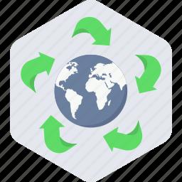 earth, green icon