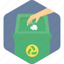 bin, dustbin, garbage, recycle, trash icon