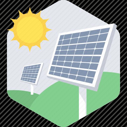 energy, light, solar, system icon