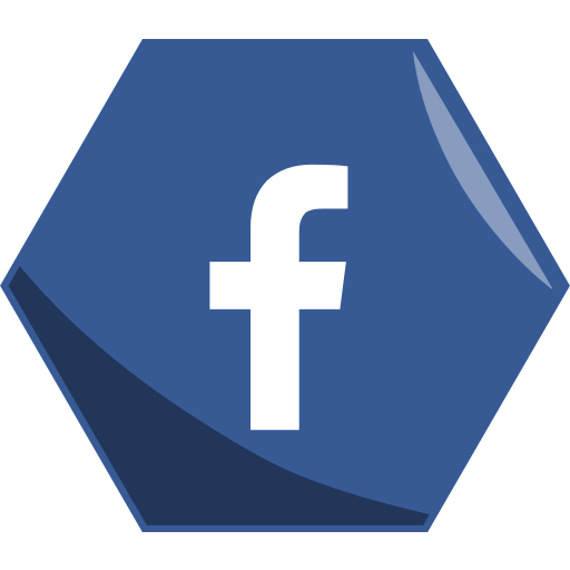 facebook, hexagon, media, networking, social icon