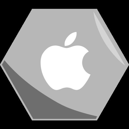 Apple, company, hexagon, media, networking, social icon - Free download