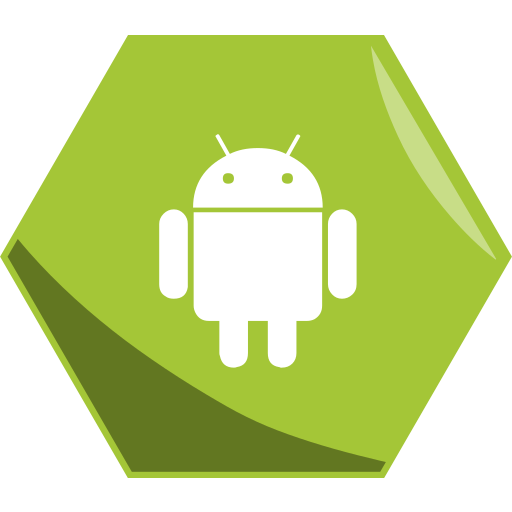 Android, company, hexagon, social icon - Free download