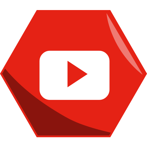 hexagon, media, networking, social, video, youtube icon
