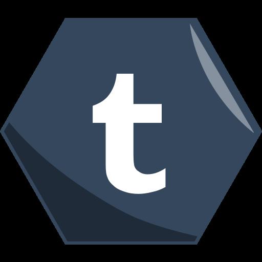 hexagon, media, networking, social, tumblr icon