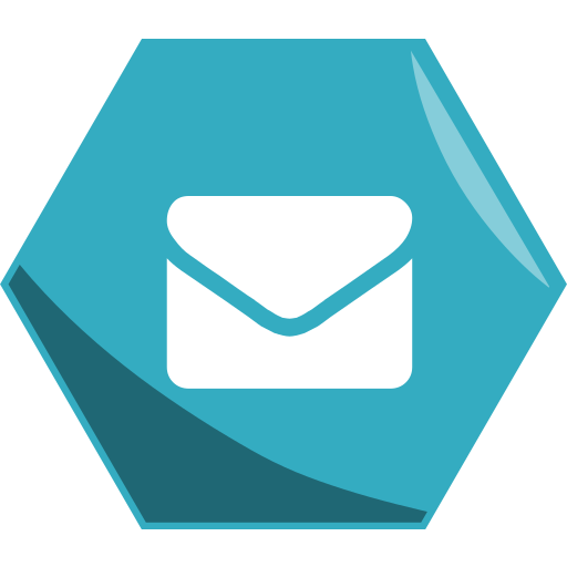 Email, hexagon, media, networking, social icon - Free download