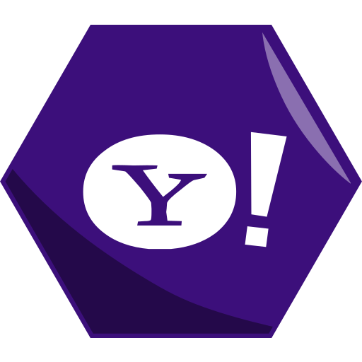 hexagon, media, networking, news, social, yahoo icon