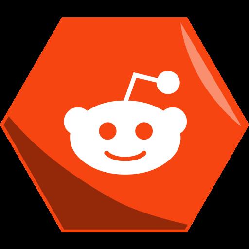 hexagon, question, reddit, social icon