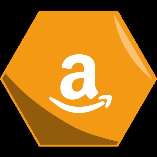 Amazon, hexagon, price, social icon - Free download