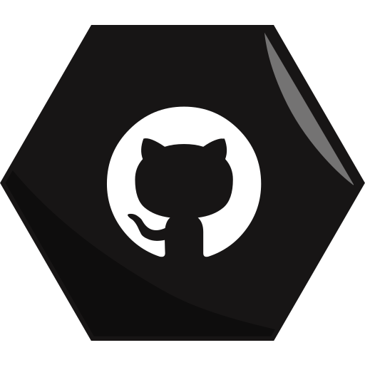 coding, github, hexagon, networking, programming, social icon
