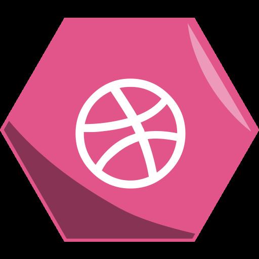 art, dribbble, hexagon, networking, portfolio, social icon