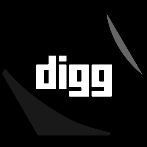 digg, hexagon, networking, news, social icon