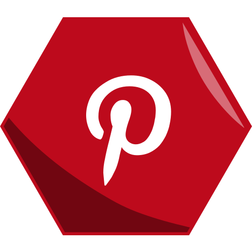 Art, hexagon, media, networking, pictures, pinterest, social icon - Free download