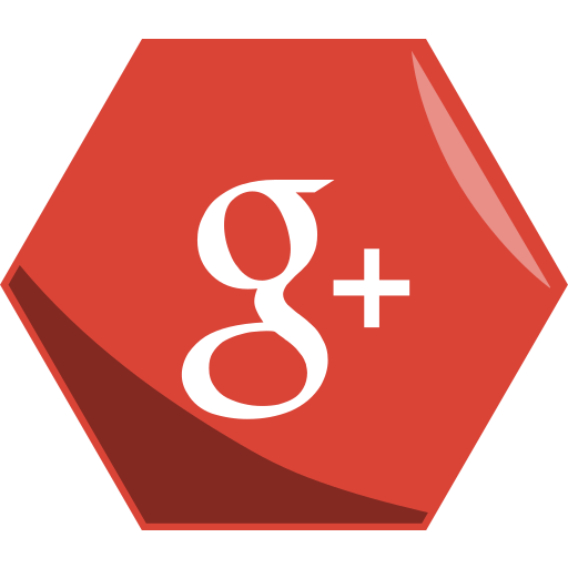 google, hexagon, media, networking, plus, social icon
