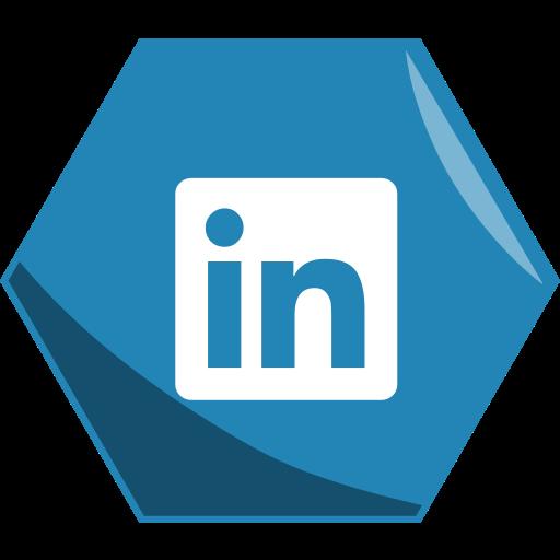 Hexagon, job, linkedin, media, networking, social icon - Free download