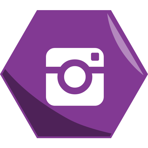 Hexagon, instagram, media, networking, pictures, social icon - Free download