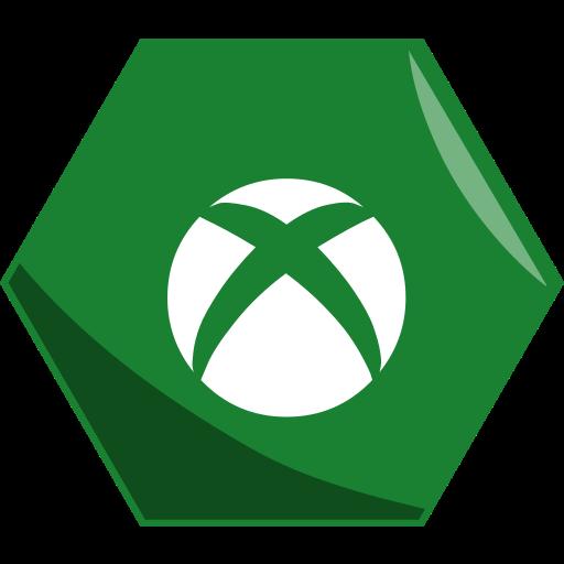 games, hexagon, social, xbox icon