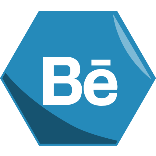 behance, hexagon, media, networking, social icon