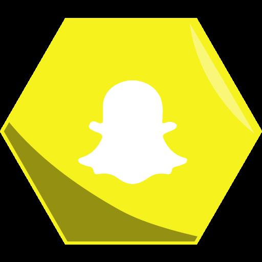 Hexagon, media, networking, snapchat, social icon - Free download