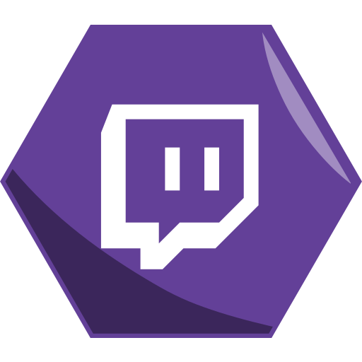 awesome, hexagon, live, networking, social, stream, twitch icon