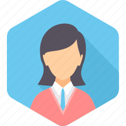 business, female, girl, lady, people, user, woman icon