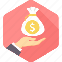 bag, business, cash, dollar, money, payment, shopping icon