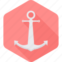 anchor, boat, cruise, marine, ocean, sea, ship icon