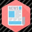 newsletter, newspaper, communication, media, news, press