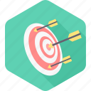 aim, bullseye, dartboard, focus, goal, success, target icon