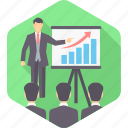 analysis, analytics, board, data, diagram, presentation, report icon