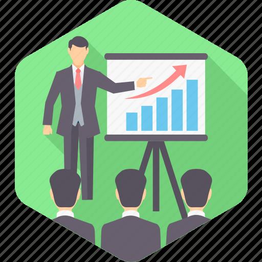 analysis, analytics, board, data, diagram, presentation, report icon