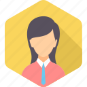 business, employee, female, finance, lady, marketing, office icon