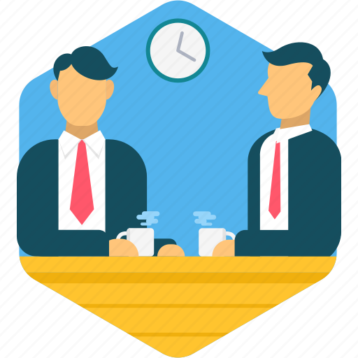business, conference, discussions, meeting, schedule, time icon