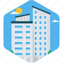 building, business, construction, estate, office, real icon