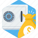 business, cash, currency, locker, money, payment, safe icon