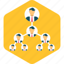 business, connection, hierarchy, network, organization, structure icon