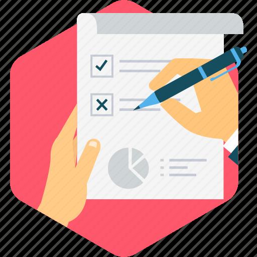 business, checklist, questionnaire, report, survey icon