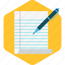 document, draw, file, format, paper, write icon