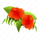 garden, hibiscus, botanical