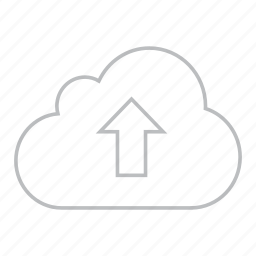 cloud, clouds, cloudy, rain, up, upload, weather icon