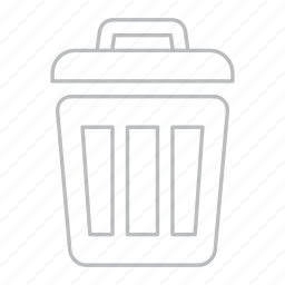 bin, delete, empty, exit, garbage, recycle bin, remove, trash icon