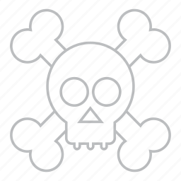 danger, death, delete, empty, error, exit, garbage, problem, remove, skull, trash, warning icon